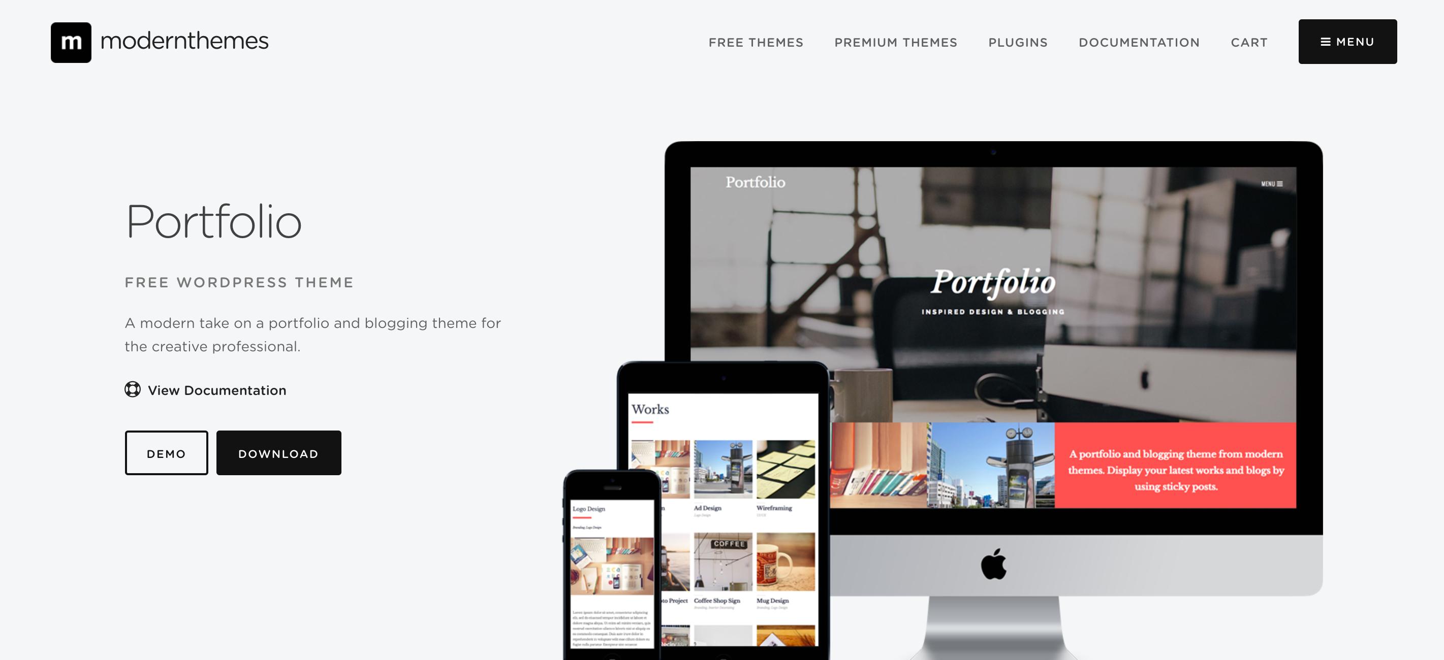 portfolio - Wordpressのテーマ7選!デザインがおしゃれで使いやすいおすすめテンプレート