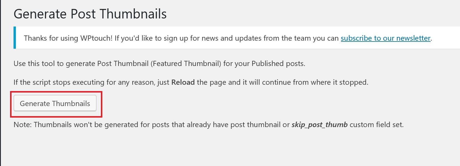generate post thumbnails - WordPressのアイキャッチ画像を自動設定!プラグインで表示されない時の対処法